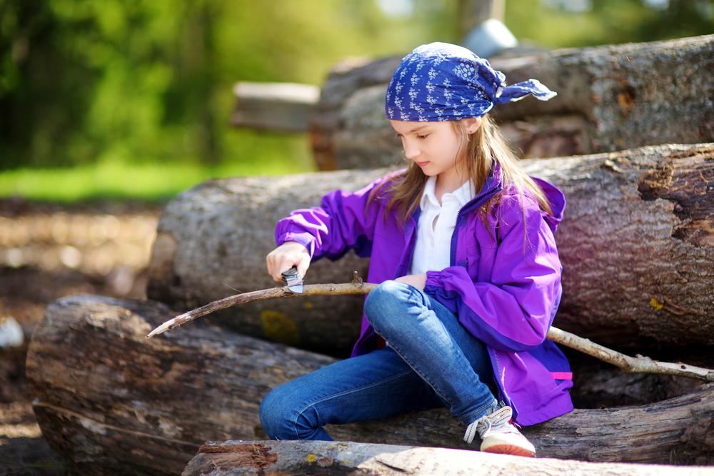 snittekniv - børn snitter træ