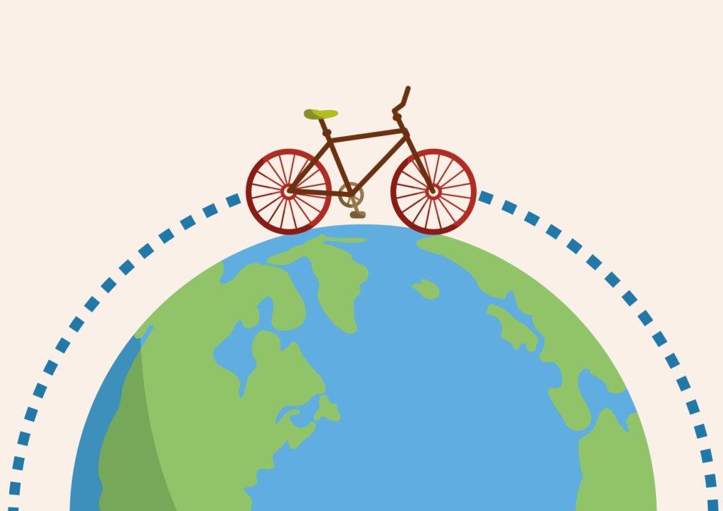 cykel jorden rundt