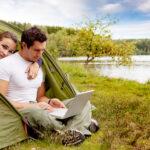 online på campingturen